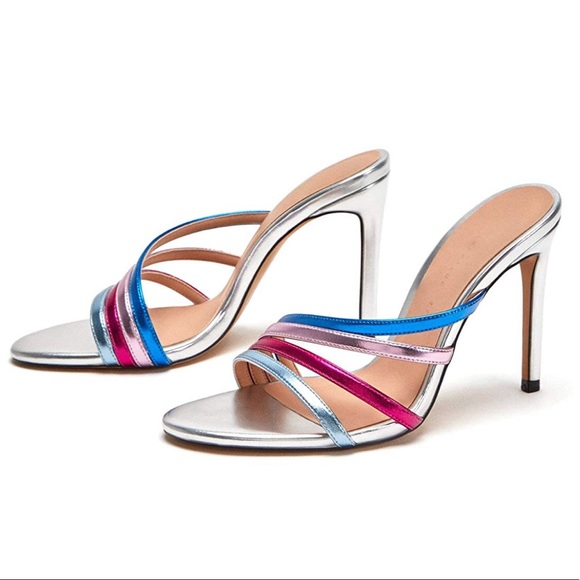 9e70d84ee Zara Women High heel colorful strappy sandals